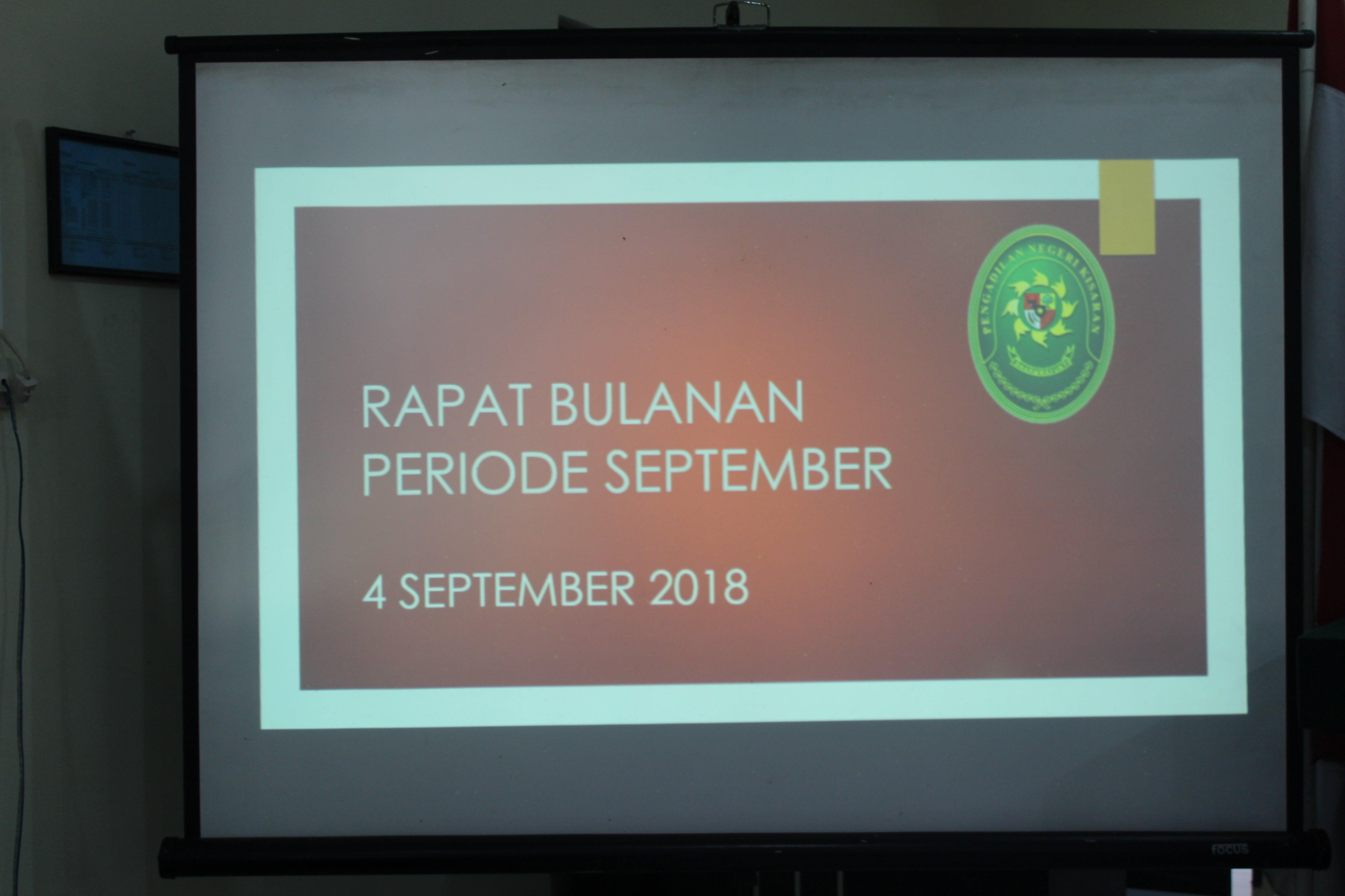 Rapat Bulanan Periode September 2018