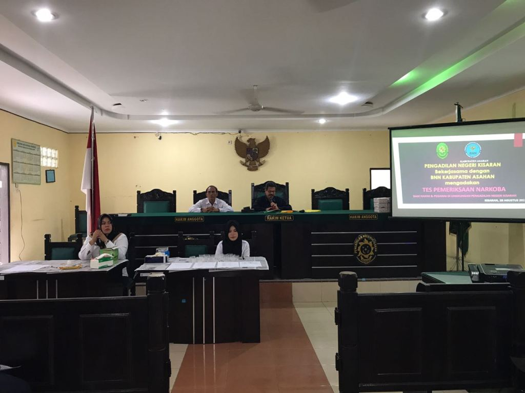 Pemeriksaan Narkoba Melalui Tes Urine Di Pengadilan Negeri Kisaran