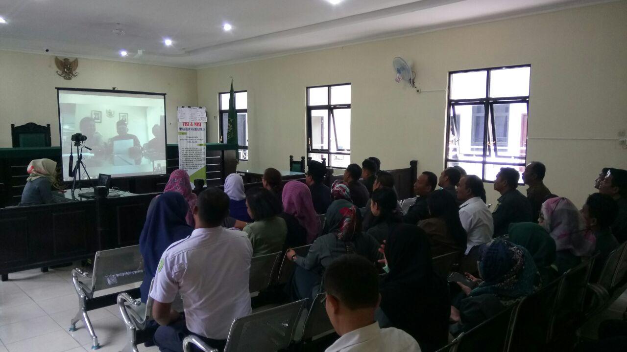 Teleconference Ketua Pengadilan Tinggi Medan dan Wakil Ketua Pengadilan Tinggi Medan