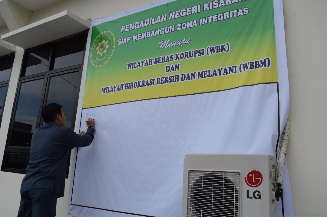 Pengadilan Negeri Kisaran Siap Membangun Zona Integritas menuju Wilayah Bebas Korupsi ( WBK ) dan Wilayah Birokrasi Bersih dan Melayani ( WBBM )